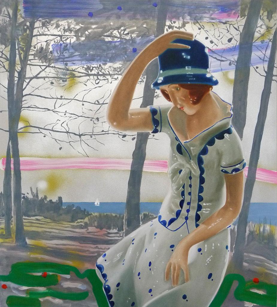 Abendgrün, 2009, 100 x 90 cm