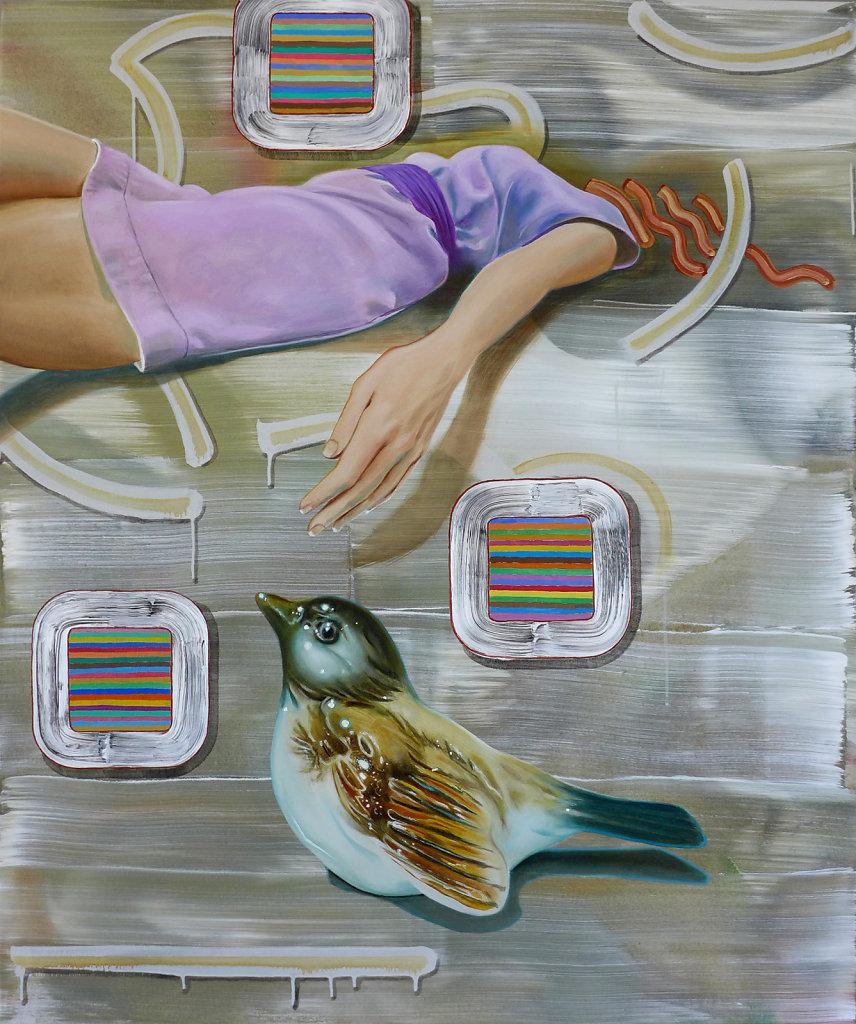 Mit vergessenem Titel, 2013, 110 x 100 cm