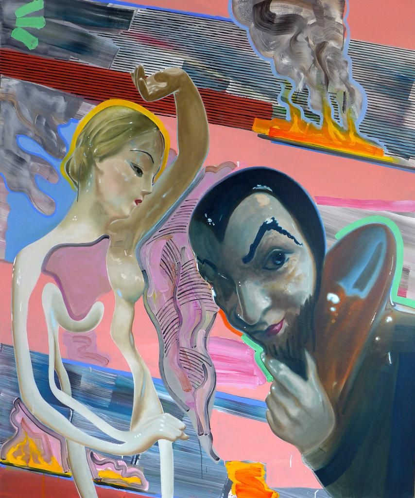 Rauchentwicklung bei der Heiligenverehrung, 2013, 180 x 150 cm
