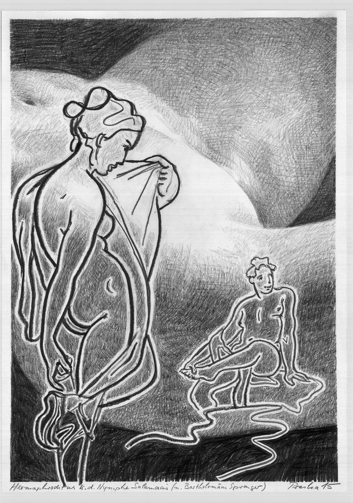 Hermaphrodit und Nymphe (Spranger)