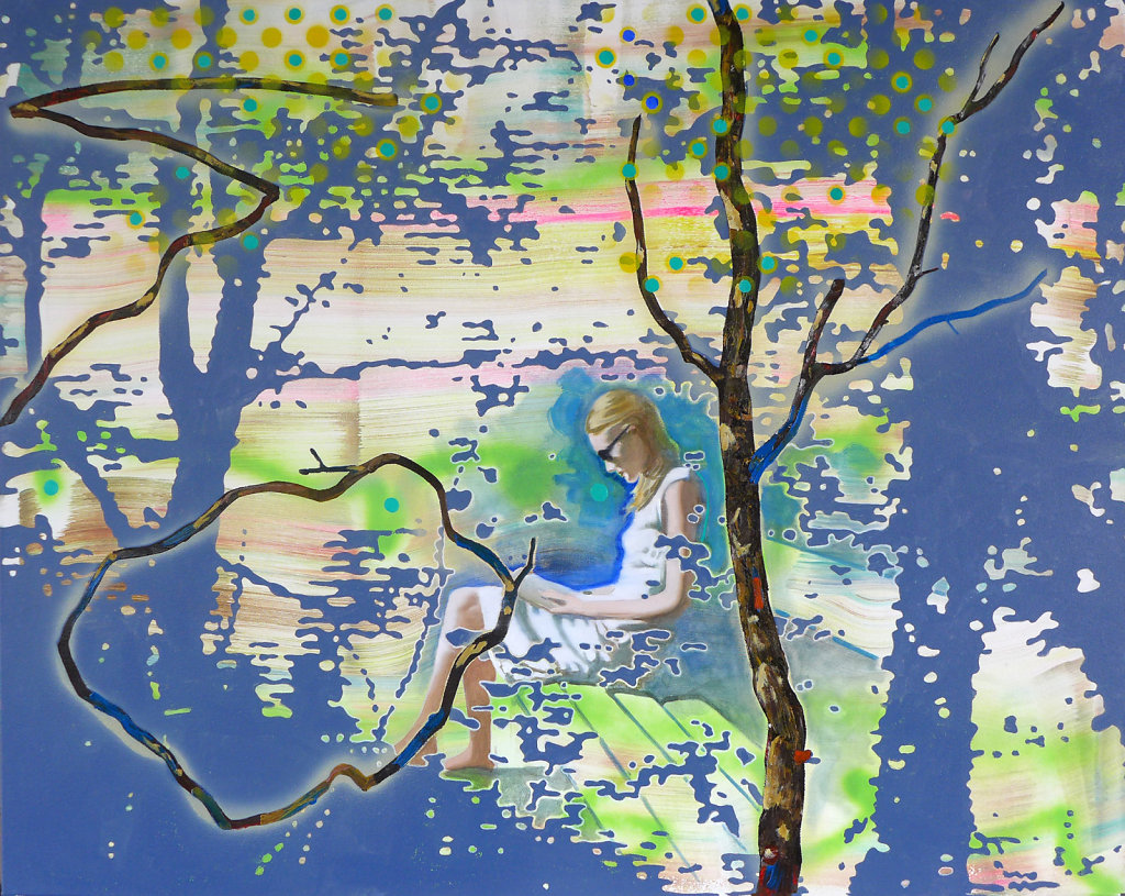 Wie ein Ast ausschaut und wie nicht, 2016, 120 x 150 cm