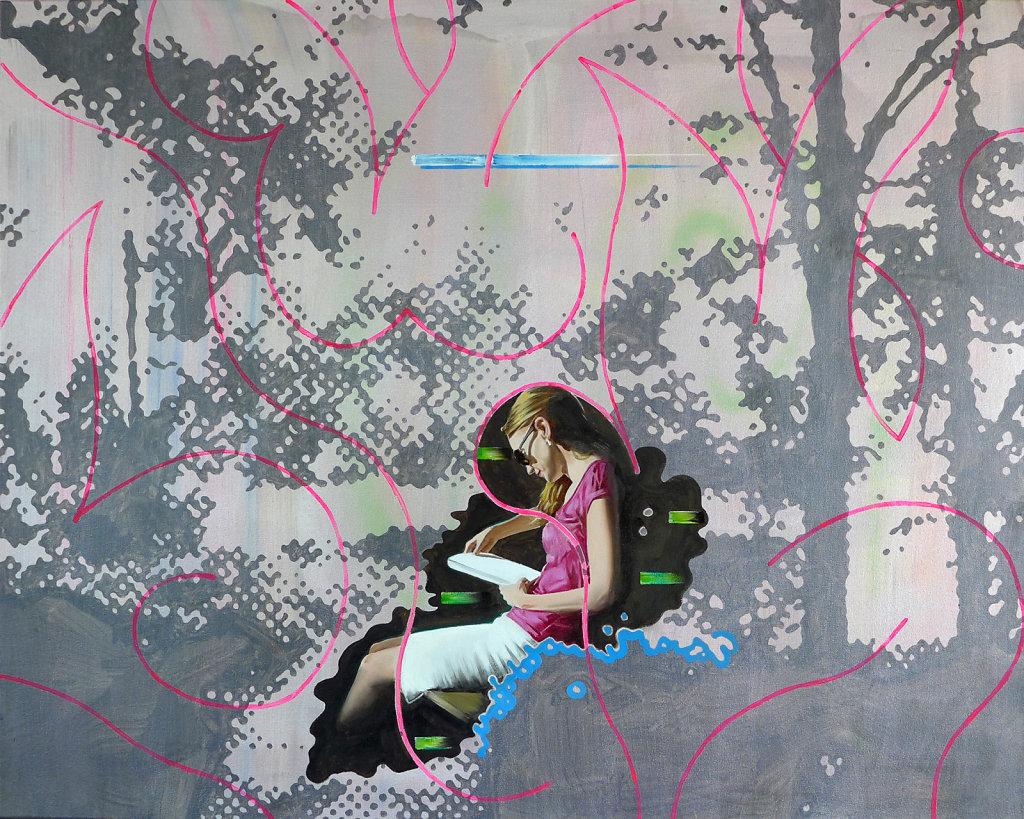 Der Auwald als Autor, 2016, 120 x 150 cm