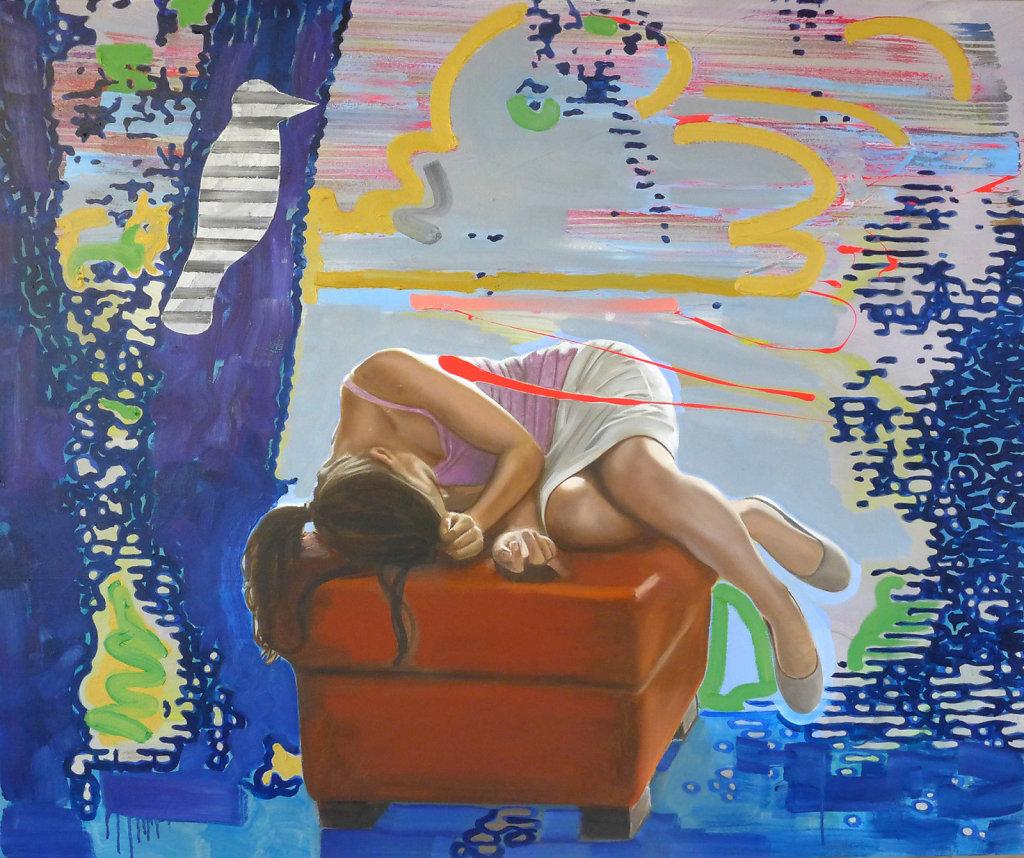 Buntspecht und heiliger Geist, 2016, 120 x 145 cm