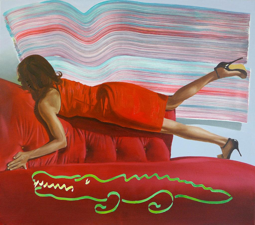 Krokodil, 2013, 75 x 85 cm