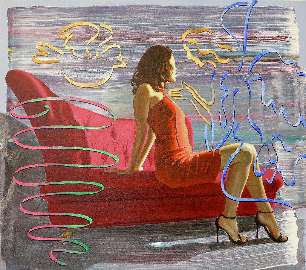 Mariae Verkündigung, 2013, 75 x 85 cm