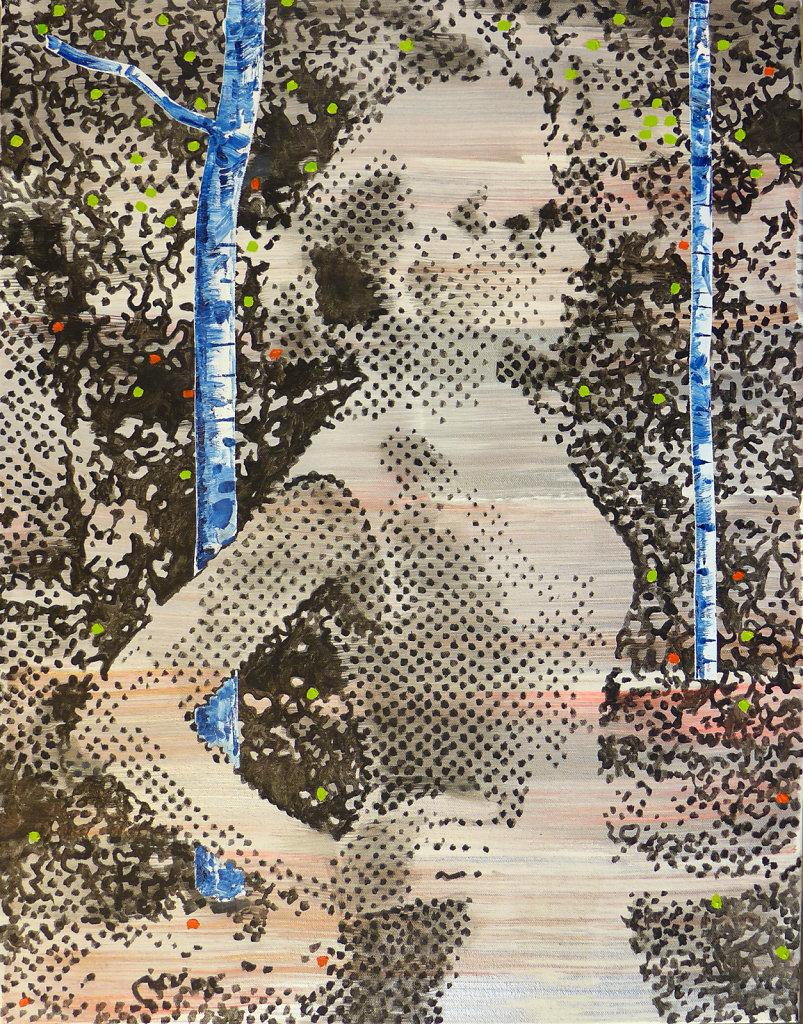 Seurat ètait lá, 2017, 90 x 70 cm