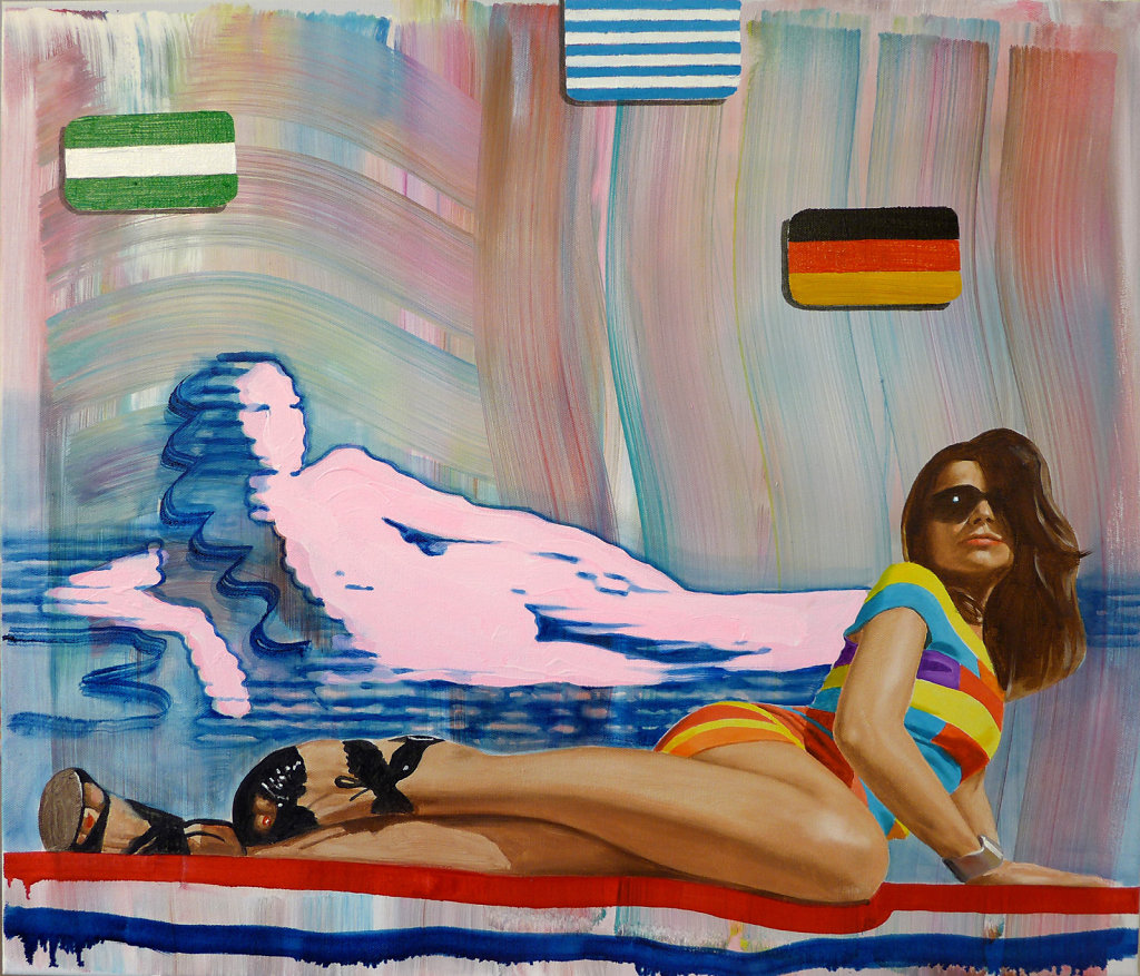 Deutschland, Österreich und die Schweiz, 2014, 70 x 80 cm