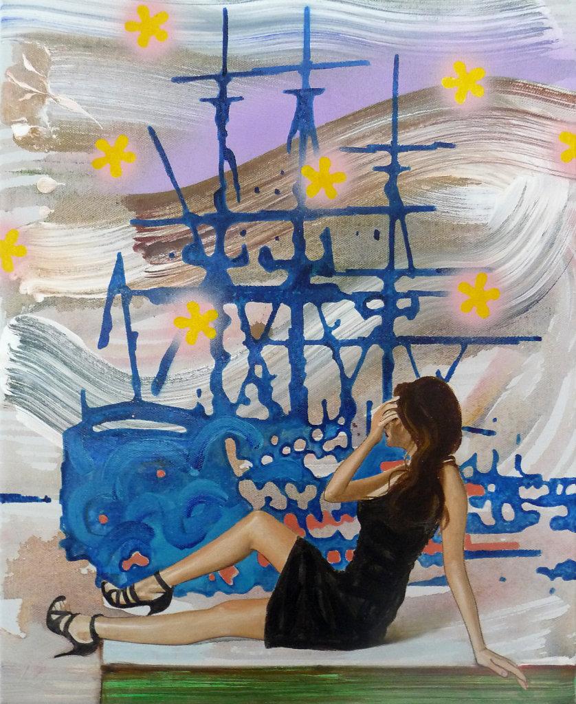 Lady Hamilton Blue, 2010, 55 x 45 cm
