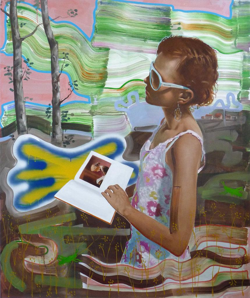 Lesende, 2012, 180 x 150 cm