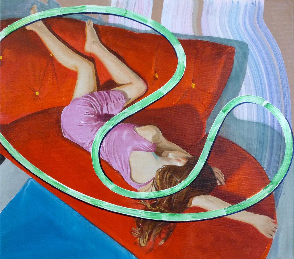 Mohnblume, 2013, 40 x 45 cm