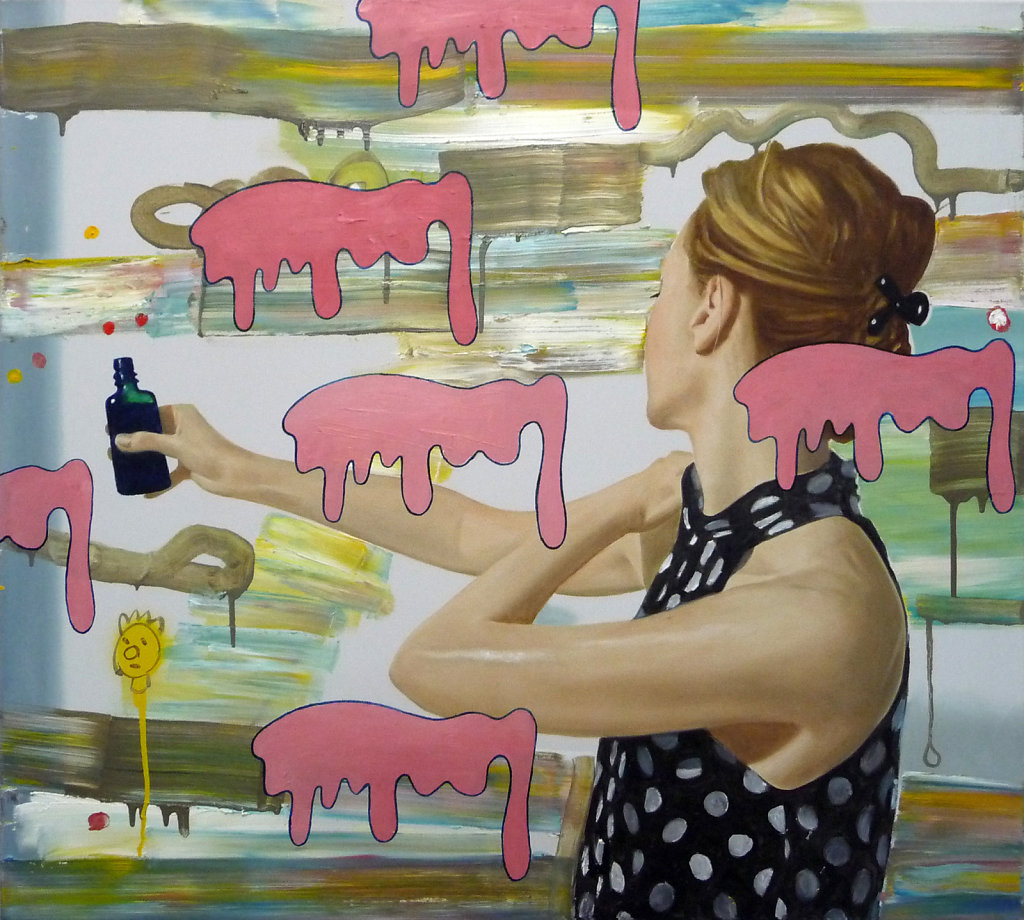 Öl auf Leila, 2010, 90 x 100 cm