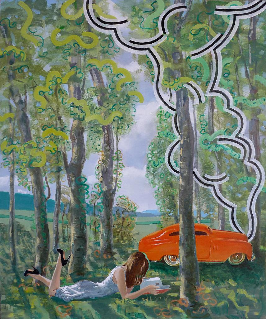 Rauchender Kühler, 2013, 110 x 100 cm