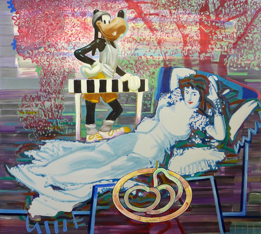 Bis hierher (Goya), 2013, 200 x 180 cm