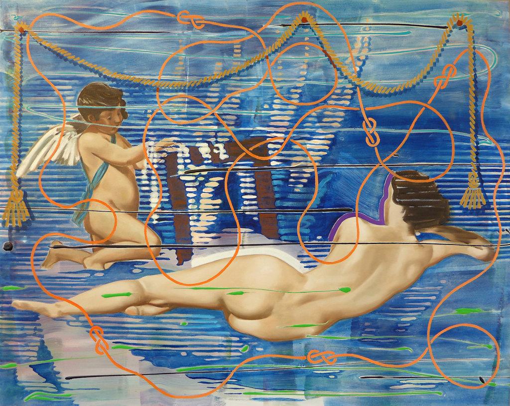 Velazquez in Blue (Velazquez), 2015, 120 x 150 cm
