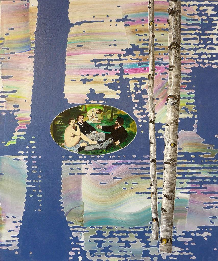 Unter Freunden (Manet), 2017, 100 x 90 cm