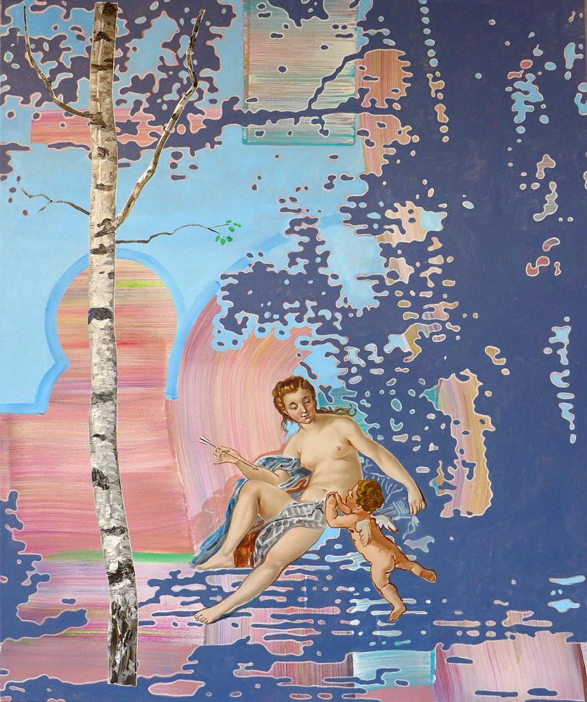 Der verbotene Pfeil (Boucher), 2017, 100 x 90 cm