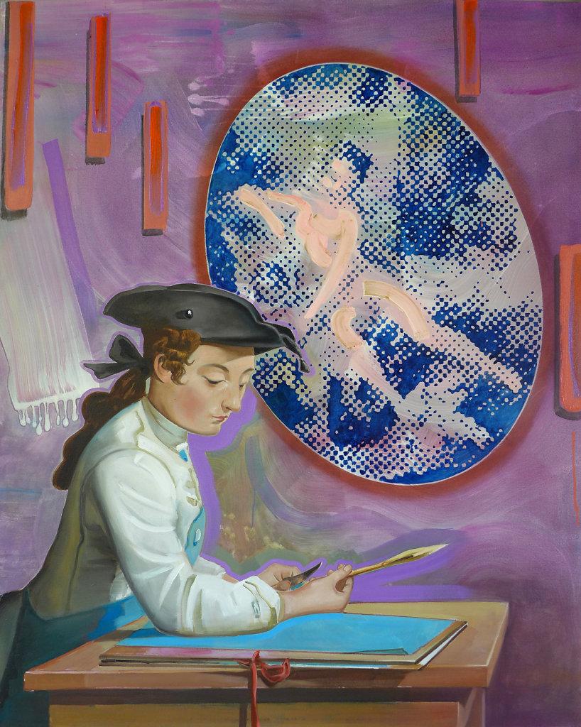 Künstler und Muse (Chardin / Boucher), 2014, 150 x 120 cm