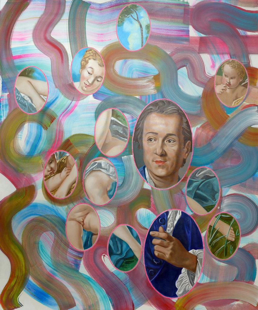 Diderot (van Loo / Boucher), 2014, 180 x 150 cm