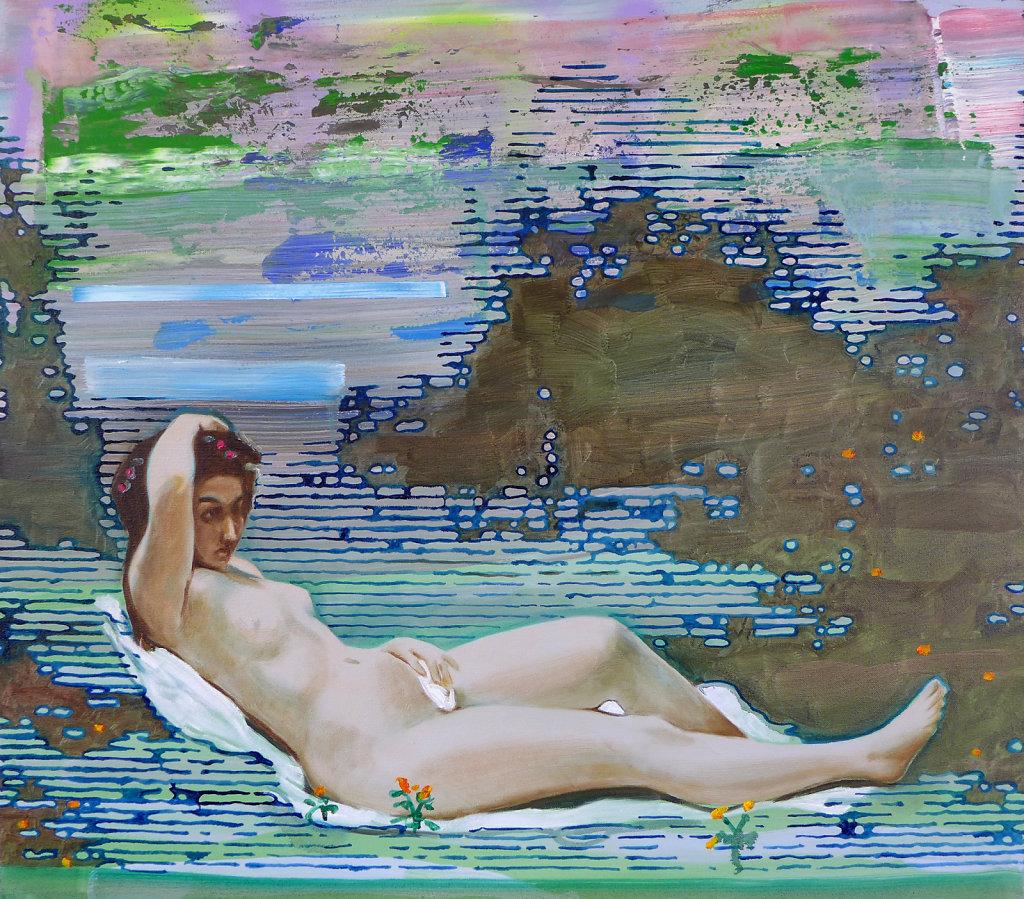 Nymphe ( Corot), 2013, 80 x 100 cm