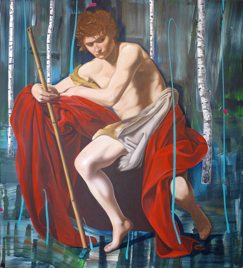 Der Freidenker (Caravaggio), 2017, 200 x 180 cm