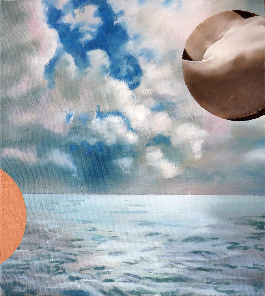 Der alte Mann und das Meer, 2017, 50 x 45 cm