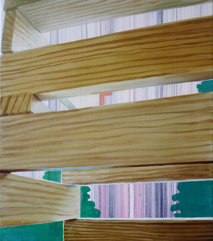 Moderner Holzbau I, 2012, 45 x 40 cm
