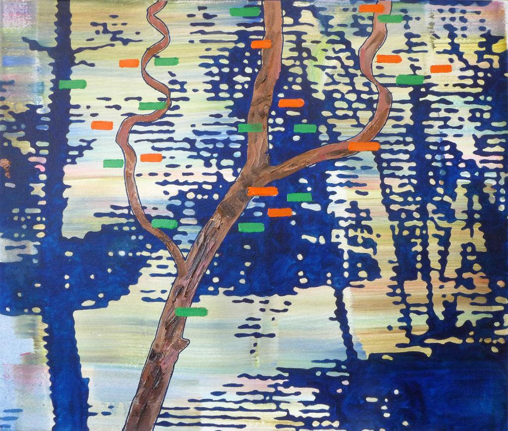Waldstück, 2017, 65 x 70 cm