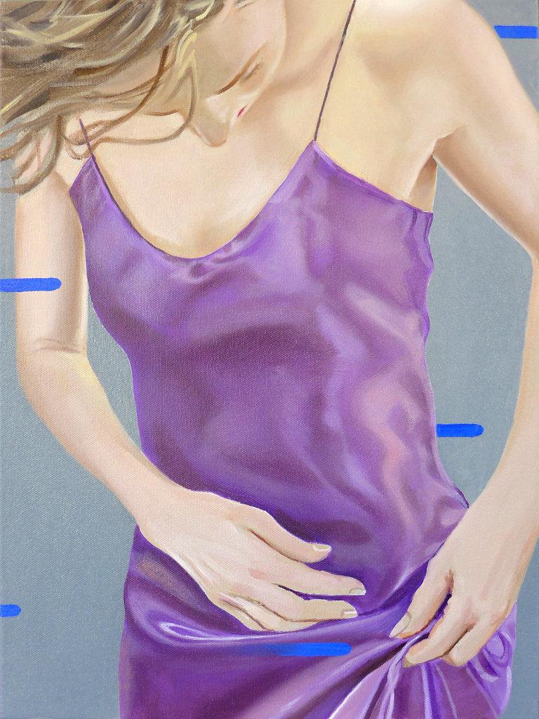 Blaue Flecken, 2018, 60 x 45 cm