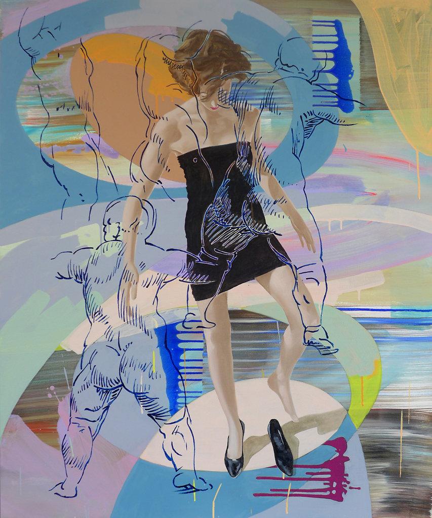 Zielsicher (n. Rubens), 2018, 120 x 100 cm