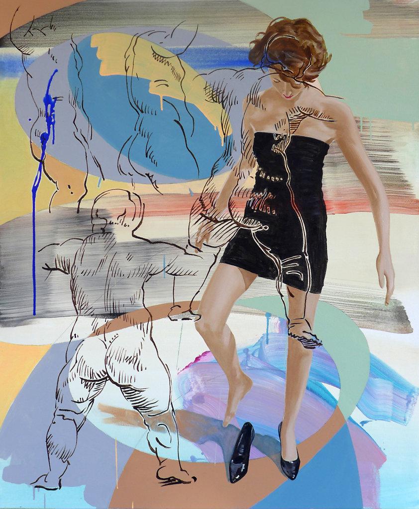Gleich soweit (n. Rubens), 2018, 120 x 100 cm