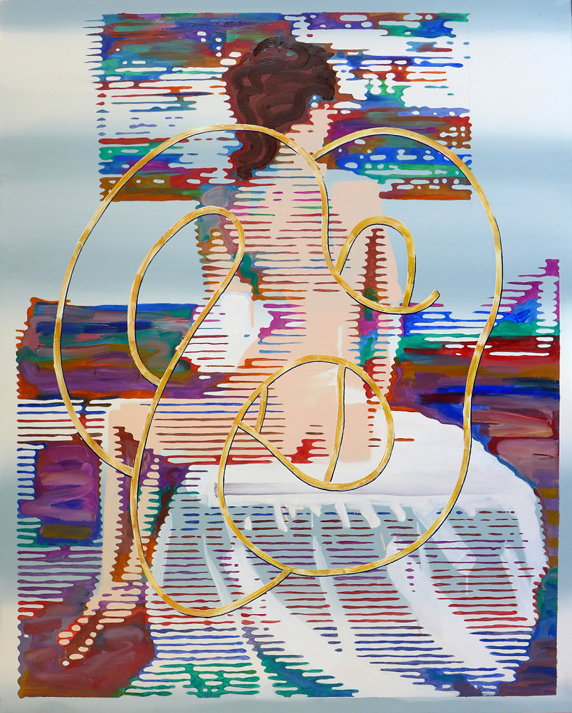 Classically Seated with Heart, 2018, 150 x 120 cm