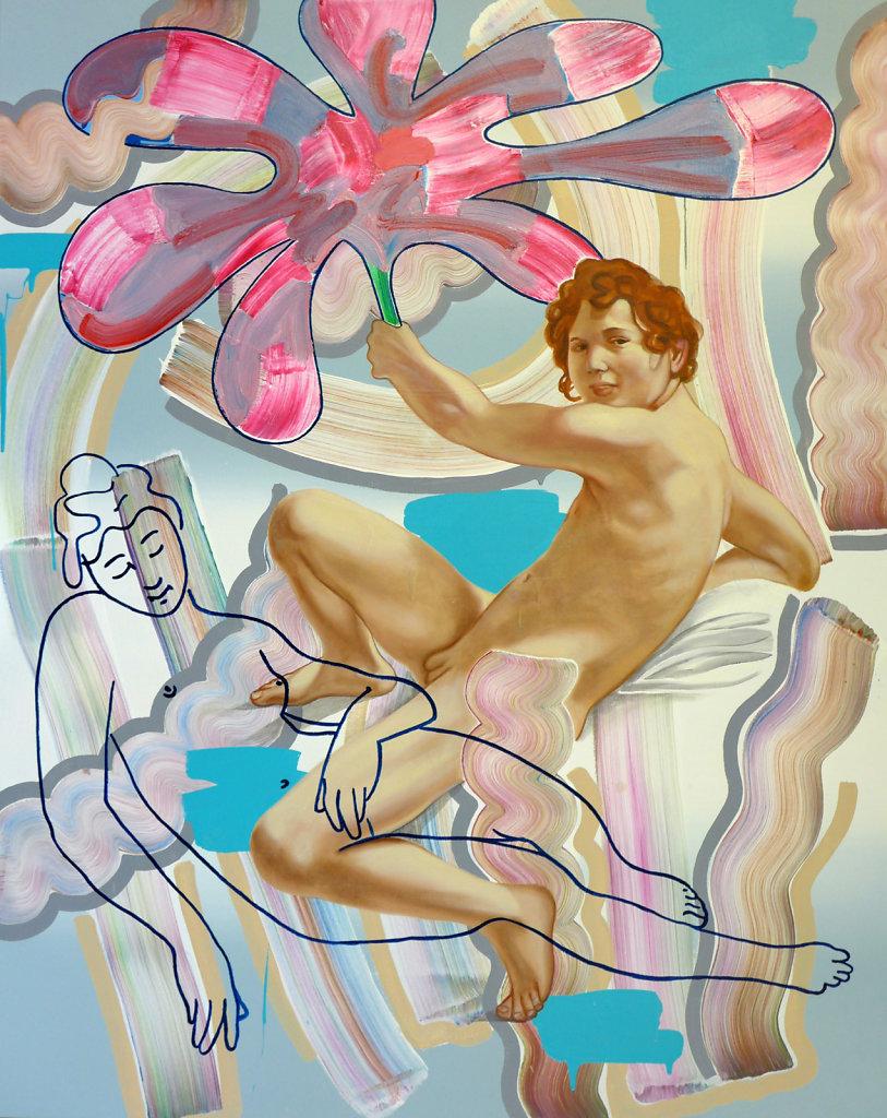 Ein Heldenleben (n. Caravaggio), 2018, 150 x 120 cm