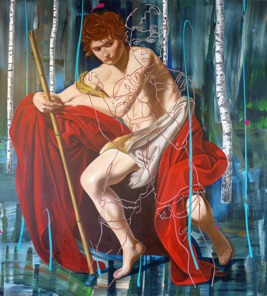Der Freidenker (n. Caravaggio u. Schiele)