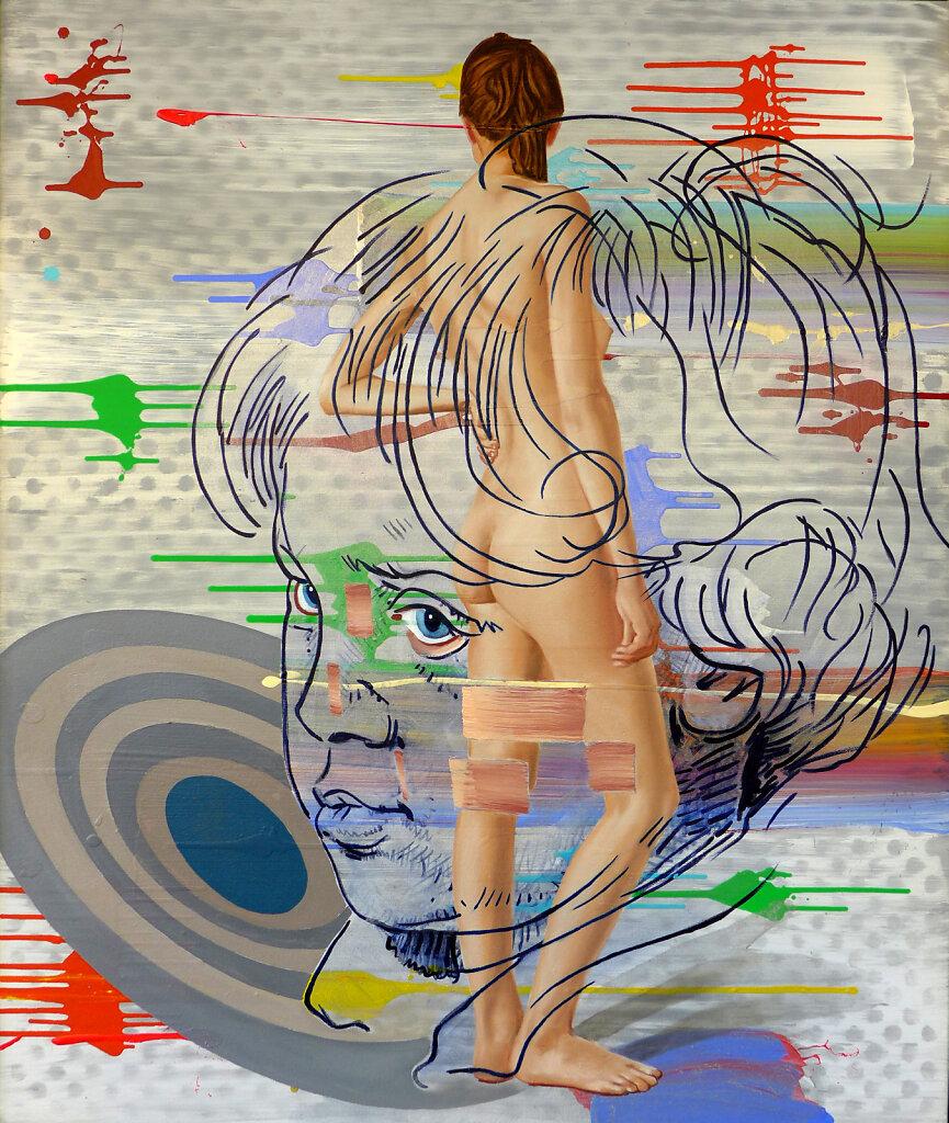 Radio Gaga (n. Dürer), 2021, 120 x 100 cm