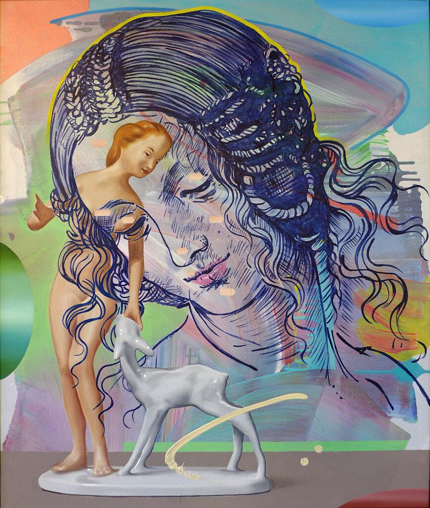 Venus Vegan (n. Leonardo da Vinci), 2021, 120 x 100 cm